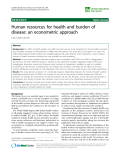 "báo cáo sinh học:""  Human resources for health and burden of disease: an econometric approach"""