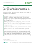 "báo cáo sinh học:"" The training and professional expectations of medical students in Angola, Guinea-Bissau and Mozambique"""