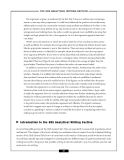 – THE GRE ANALYTICAL WRITING SECTION –  The argument, as given, is weakened by the fact that it
