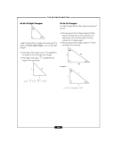 – THE SAT MATH SECTION –  45-45-90 Right Triangles 45°  30-60-90 Triangles In a right triangle