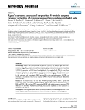 """Báo cáo sinh học: """"  Kaposi's sarcoma associated herpesvirus G-protein coupled receptor activation of cyclooxygenase-2 in vascular endothelial ce"""""""