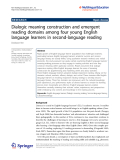 "Báo cáo sinh học: "" Dialogic meaning construction and emergent reading domains among four young English language learners in second-language reading Deoksoon Kim"""