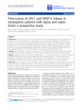 "Báo cáo sinh học: ""Time-course of sFlt-1 and VEGF-A release in neutropenic patients with sepsis and septic shock: a prospective study"""