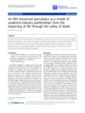 "Báo cáo sinh học: ""An NIH intramural percubator as a model of academic-industry partnerships: from the beginning of life through the valley of death"""
