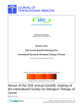 "Báo cáo sinh học: ""Review of the 25th Annual Scientific Meeting of the International Society for Biological Therapy of Cancer (now the Society for Immunotherapy of Cancer)"""