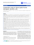 "Báo cáo sinh học: ""Comparative study of clinical grade human tolerogenic dendritic """