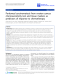 "Báo cáo sinh học: ""Peritoneal carcinomatosis from ovarian cancer: chemosensitivity test and tissue markers as predictors of response to chemotherapy"""