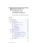 Radionuclide Concentrations in Foor and the Environment - Chapter 8
