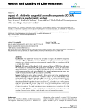"báo cáo hóa học: "" Impact of a child with congenital anomalies on parents (ICCAP) questionnaire; a psychometric analysis"""