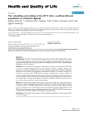 """báo cáo hóa học: """"  The reliability and validity of the SF-8 with a conflict-affected population in northern Uganda"""""""