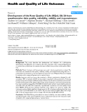 "báo cáo hóa học: ""   Development of the Knee Quality of Life (KQoL-26) 26-item questionnaire: data quality, reliability, validity and responsiveness"""