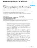 "báo cáo hóa học: ""  Comparison of the discriminative ability of a generic and a condition-specific OHRQoL measure in adolescents with and without normative need for orthodontic treatment"""