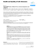 "báo cáo hóa học: ""  Child-OIDP index in Brazil: Cross-cultural adaptation and validation"""