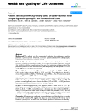 """báo cáo hóa học: """"   Patient satisfaction with primary care: an observational study comparing anthroposophic and conventional care"""""""