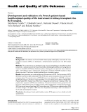"báo cáo hóa học: ""   Development and validation of a French patient-based health-related quality of life instrument in kidney transplant: the ReTransQoL"""
