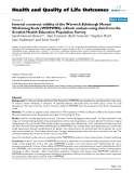 "báo cáo hóa học: ""  Internal construct validity of the Warwick-Edinburgh Mental Well-being Scale (WEMWBS): a Rasch analysis using data from the Scottish Health Education Population Survey"""