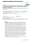 """báo cáo hóa học: """"  The health-related quality of life in rheumatoid arthritis, ankylosing spondylitis, and psoriatic arthritis: a comparison with a selected sample of healthy people"""""""