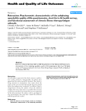 """báo cáo hóa học: """" Retraction: Psychometric characteristics of the ankylosing spondylitis quality of life questionnaire, short form 36 health survey, and functional assessment of chronic illness therapy-fatigue subscale"""""""