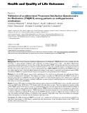 """báo cáo hóa học: """" Validation of an abbreviated Treatment Satisfaction Questionnaire for Medication (TSQM-9) among patients on antihypertensive medications"""""""