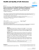 "báo cáo hóa học: ""  Factor structure of the Hospital Anxiety and Depression Scale in Japanese psychiatric outpatient and student populations"""