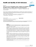 "báo cáo hóa học: "" The Locomotor Capabilities Index; validity and reliability of the Swedish version in adults with lower limb amputation"""