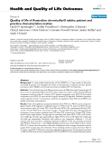 """báo cáo hóa học: """" Quality of life of Australian chronically-ill adults: patient and practice characteristics matter"""""""