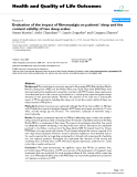 "báo cáo hóa học: ""Evaluation of the impact of fibromyalgia on patients' sleep and the content validity of two sleep scales"""