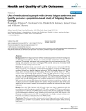 "báo cáo hóa học: ""Use of medications by people with chronic fatigue syndrome and healthy persons: a population-based study of fatiguing illness in Georgia"""