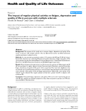 """báo cáo hóa học: """"The impact of regular physical activity on fatigue, depression and quality of life in persons with multiple sclerosis"""""""