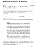 "báo cáo hóa học: "" Health-related Quality of Life among hospitalized older people awaiting residential aged care"""