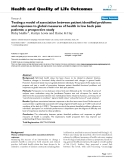 """báo cáo hóa học: """" Testing a model of association between patient identified problems and responses to global measures of health in low back pain patients: a prospective study"""""""