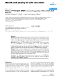 """báo cáo hóa học: """"  Utility of WHOQOL-BREF in measuring quality of life in Sickle Cell Disease"""""""