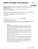 "báo cáo hóa học: ""  Quality of life in caregivers of patients with schizophrenia: A literature review"""