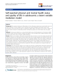 "báo cáo hóa học: ""  Self-reported physical and mental health status and quality of life in adolescents: a latent variable mediation model"""