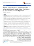 "báo cáo hóa học: ""   Type D personality in the general population: a systematic review of health status, mechanisms of disease, and work-related problems"""