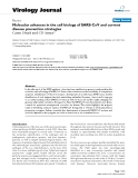 """Báo cáo sinh học: """" Molecular advances in the cell biology of SARS-CoV and current disease prevention strategies"""""""