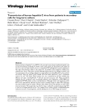 """Báo cáo sinh học: """"  Transmission of human hepatitis C virus from patients in secondary cells for long term culture"""""""