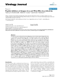 """Báo cáo sinh học: """"  Peptide inhibitors of dengue virus and West Nile virus infectivity"""""""