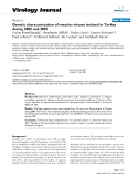 """Báo cáo sinh học: """"  Genetic characterization of measles viruses isolated in Turkey during 2000 and 2001"""""""