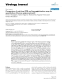"""Báo cáo sinh học: """" Comparison of real-time PCR and hemagglutination assay for quantitation of human polyomavirus JC"""""""