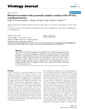 """Báo cáo sinh học: """"Mutational analysis of the potential catalytic residues of the VV G1L metalloproteinase"""""""