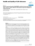"""báo cáo hóa học: """"Patient-reported benefit of ReSTOR® multi-focal intraocular lenses after cataract surgery: Results of Principal Component Analysis on clinical trial data"""""""