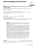 """Báo cáo hóa học: """"Validation of an individualised quality of life measure in older day hospital patients"""""""