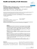 """Báo cáo hóa học: """" The Reflux Disease Questionnaire: a measure for assessment of treatment response in clinical trials"""""""