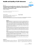 "Báo cáo hóa học: "" Development and preliminary evaluation of the participation in life activities scale for children and adolescents with asthma: an instrument development study"""