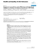 """báo cáo hóa học: """" Development and validation of the WEll-being and Satisfaction of CAREgivers of Children with Diabetes Questionnaire (WE-CARE)"""""""