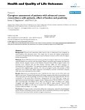 """Báo cáo hóa học: """" Caregiver assessment of patients with advanced cancer: concordance with patients, effect of burden and positivity"""""""