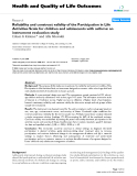 "Báo cáo hóa học: "" Reliability and construct validity of the Participation in Life Activities Scale for children and adolescents with asthma: an instrument evaluation study"""
