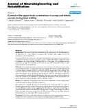 "Báo cáo hóa học: ""  Control of the upper body accelerations in young and elderly women during level walking"""
