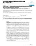 """báo cáo hóa học: """" Gait quality is improved by locomotor training in individuals with SCI regardless of training approach"""""""